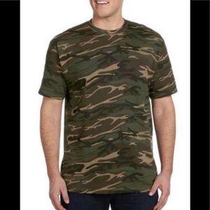 Camouflage Short Sleeve Green Camo Shirt NWT